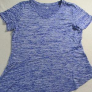 A.N.A.Women Top 2XL Blue Short Sleeves